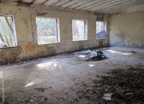 Foto op Plexiglas Krokodil Teil eines alten verlassenen Militärstützpunktes