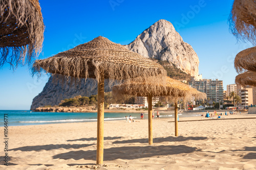 Photo  Costa Blanca typical view at Alicante province of Spain