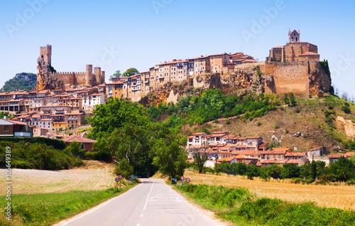 General view of Frias in summer. Burgos
