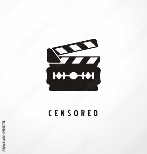 Creative symbol concept for movie censure Canvas-taulu