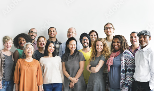 Valokuvatapetti Diversity People Group Team Union Concept