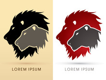 Head Lion And Lioness Graphic ...