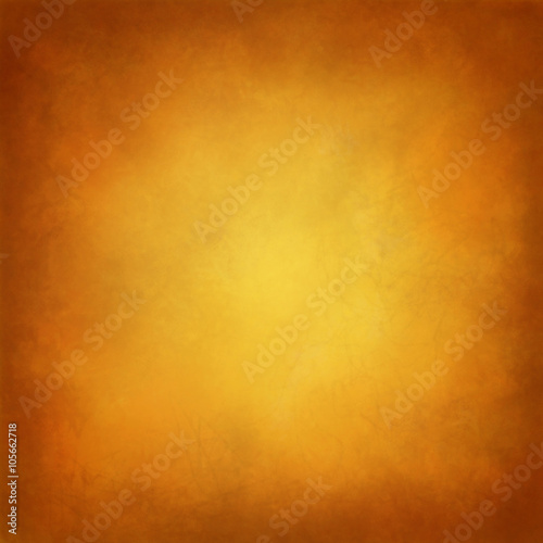 Gold Background With Orange And Brown Hues In Tuscan Style Color Warm Golden Center Vintage Border Distressed Texture Soft