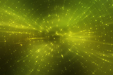 Abstract Fractal Green Backgro...