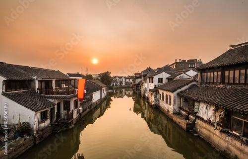 In de dag China Ancient Villages, old-town of tongli -Suzhou, China