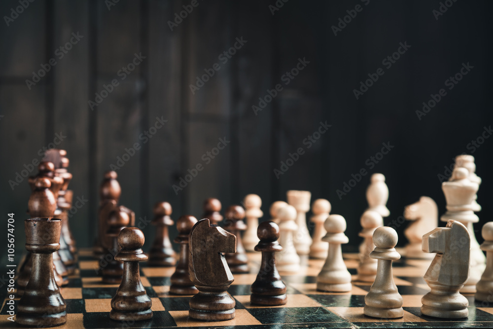 Photographie  Milieu du jeu d'échecs