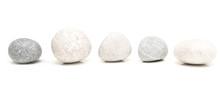 Round Stones On White