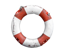 Isolated Rustic Lifebuoy Or Li...