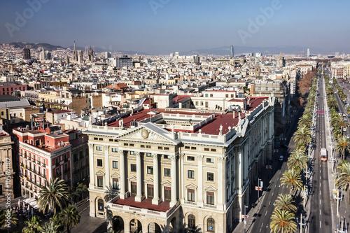 Barcelona city panoramic view, Spain - 105691182