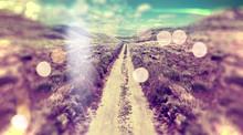 Paisaje Abstracto,camino Por L...