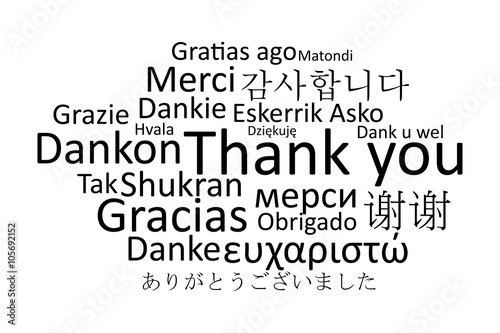 Black Thank You In Different Languages Vector Buy This Stock Vector And Explore Similar Vectors At Adobe Stock Adobe Stock