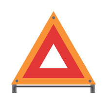 Red Warning Triangle Emergency...