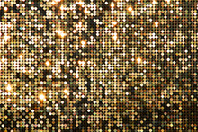 Golden Background Mosaic With ...
