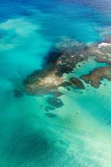recifes de corais com atividades aquáticas, em Maceió.