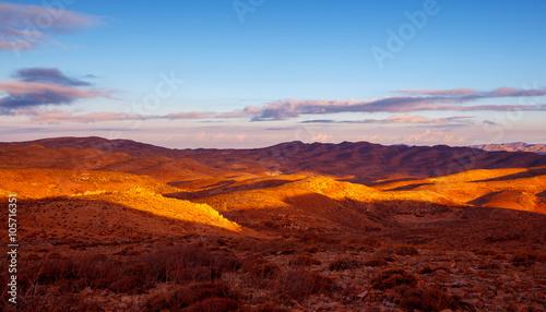Magenta Beautiful mountains landscape