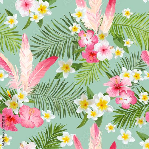 tlo-tropikalnych-kwiatow-vintage-wzor-wektor-wzor