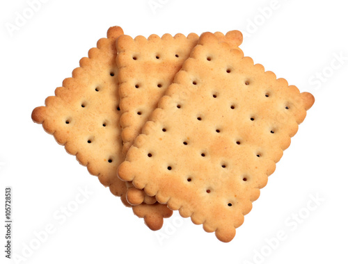 Crackers isolated on white Fototapeta