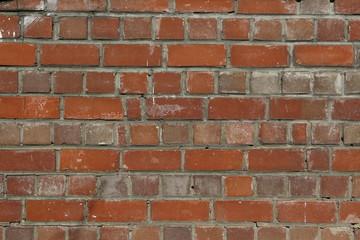 Mur z cegły czerwonej