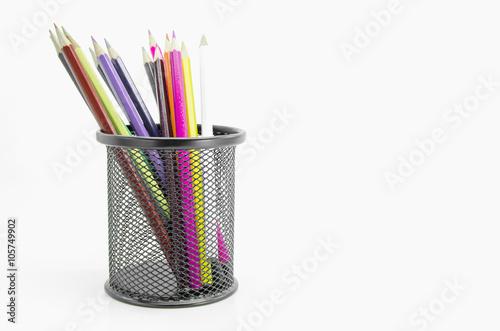 Fotografie, Obraz  Stand of colorful pencils.