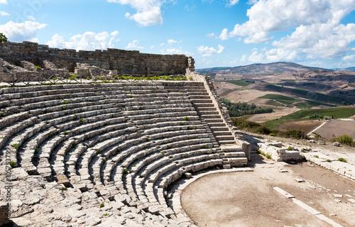 Fotografie, Obraz  Greek Theatre of Segesta, historical landmark in Sicily, Italy