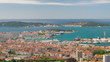 Zoom in timelapse of Toulon in a summer day