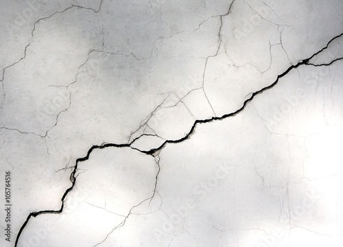 Pinturas sobre lienzo  white wall with cracks