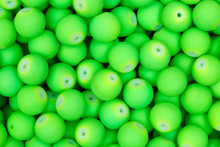 Lime, Green Beads. Texture. Hi Res Photo.