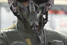 Military Pilot Helmet Set.Air Force Concept.