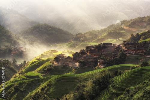 Foto op Aluminium Guilin longji rice terrace in dazhai village in guangxi province of china. Longsheng, China