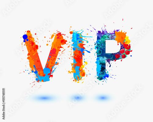 Fototapety, obrazy: VIP. Splash paint abbreviation