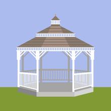 Wedding Gazebo. Vector Illustration