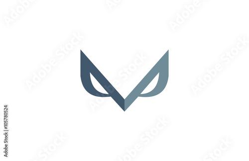 Photo Stands Owls cartoon m business eagle eye logo