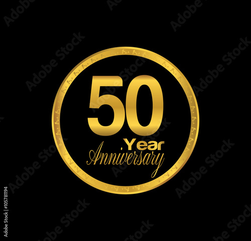 фотография  50 anniversary with black golden ring