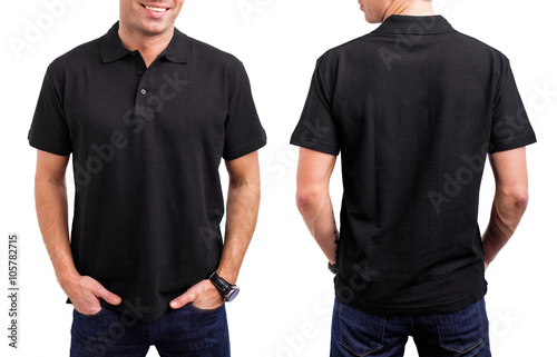 Man's black T- shirt