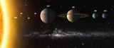 Solar system planets. Elements of this image furnished by NASA