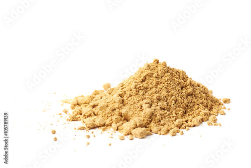 Stampa su Tela Pile of dry ginger powder isolated