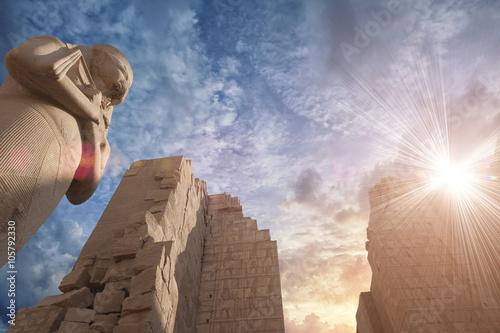 In de dag Egypte Karnak temple in Luxor, Egypt