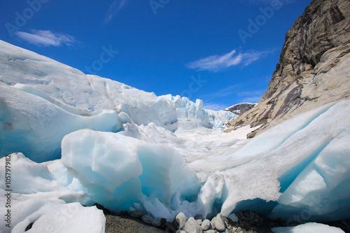 Poster Glaciers Nigardsbreen glacier