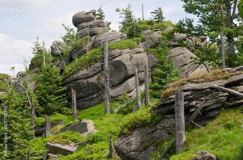 Fototapeta  Granite rock Poledni kameny in the Jizera mountains, North Bohemia, Czech republ