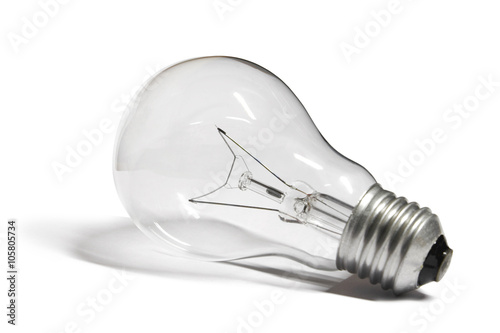 Fotografie, Obraz  light bulb isolated on white background