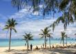 Blue sky beach at Boracay, Philippines