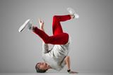 Young break-dancer practice