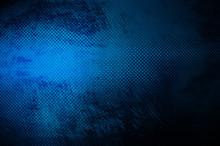 Grunge Blue Metal Plate Backgr...