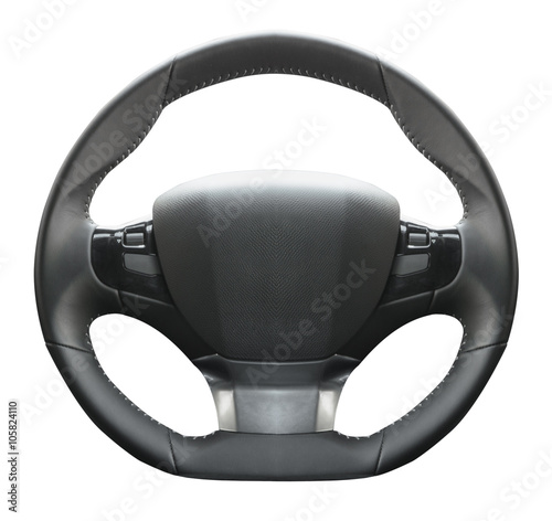 Fotografija volante auto in fondo bianco