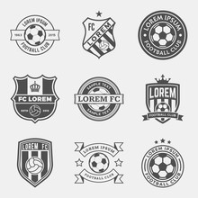 Vector Set Of Football (soccer...