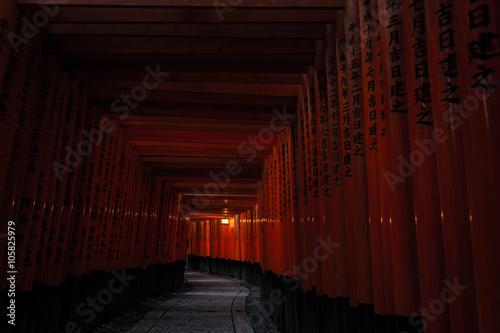 Poster Kyoto Kyoto Fushimi Inari Shrine (Fushimi Inari Taisha) - Gates Tunnel Pathway