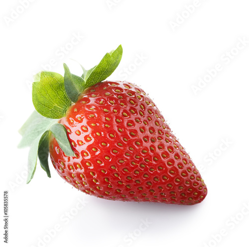 strawberries isolate on white Wallpaper Mural