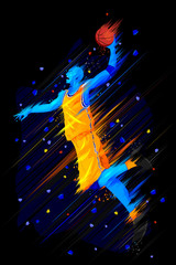 Fototapeta Koszykówka illustration of Basketball Player