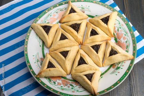 Zdjęcie XXL Purim - tradycyjne ciasteczka hamantaschen lub uszy Hamana