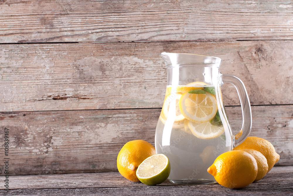 Fototapety, obrazy: pitcher of lemonade on the table